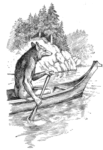 Coyote Paddling Along the River, Don't Mean No One No Harm...