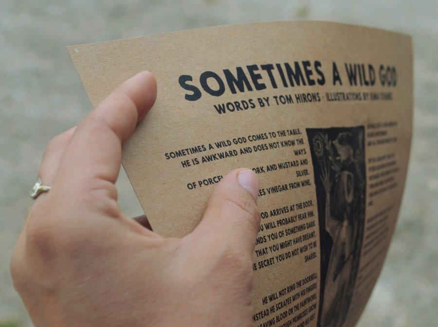 Sometimes a Wild God – a poetry-and-art A3 poster